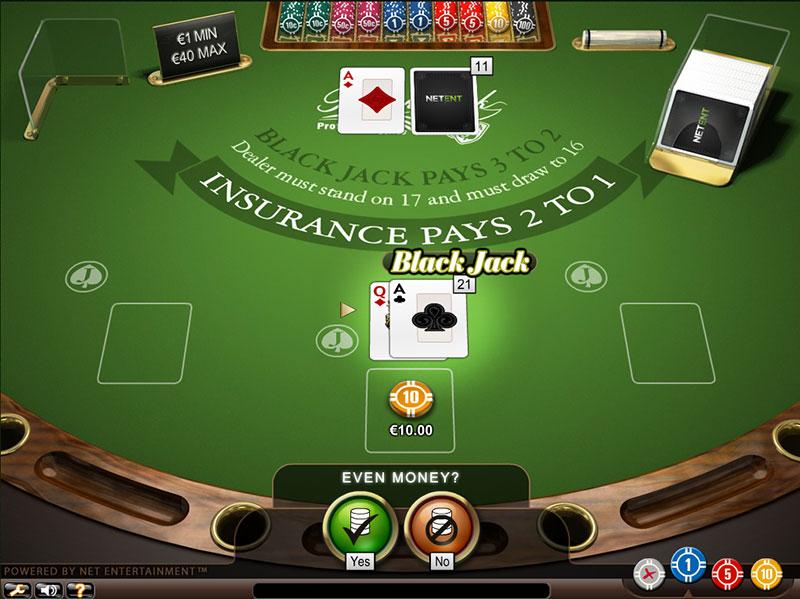 Assicurazione nel blackjack gioca aperta