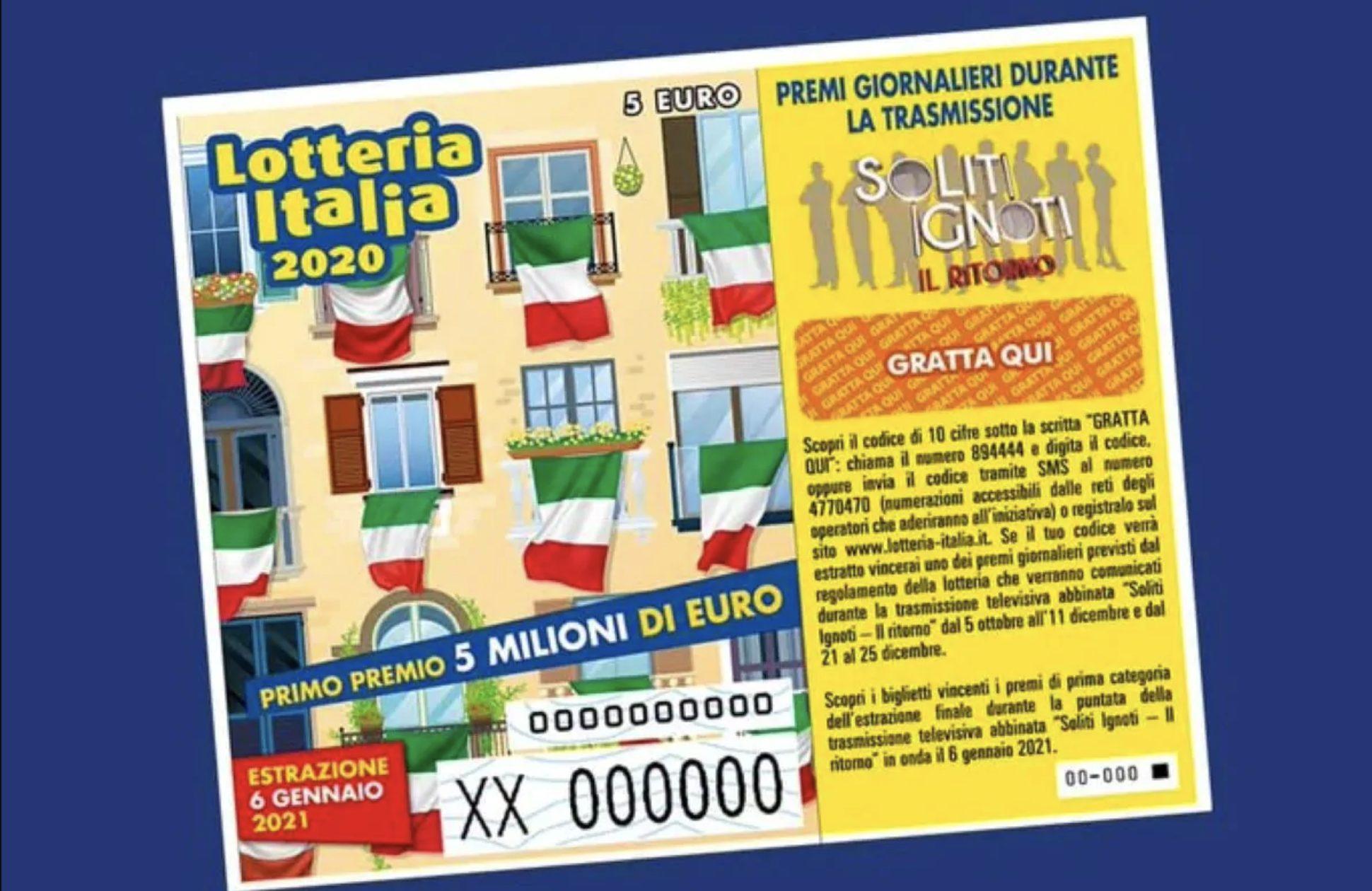 Estrazione della lotteria Italia polipi