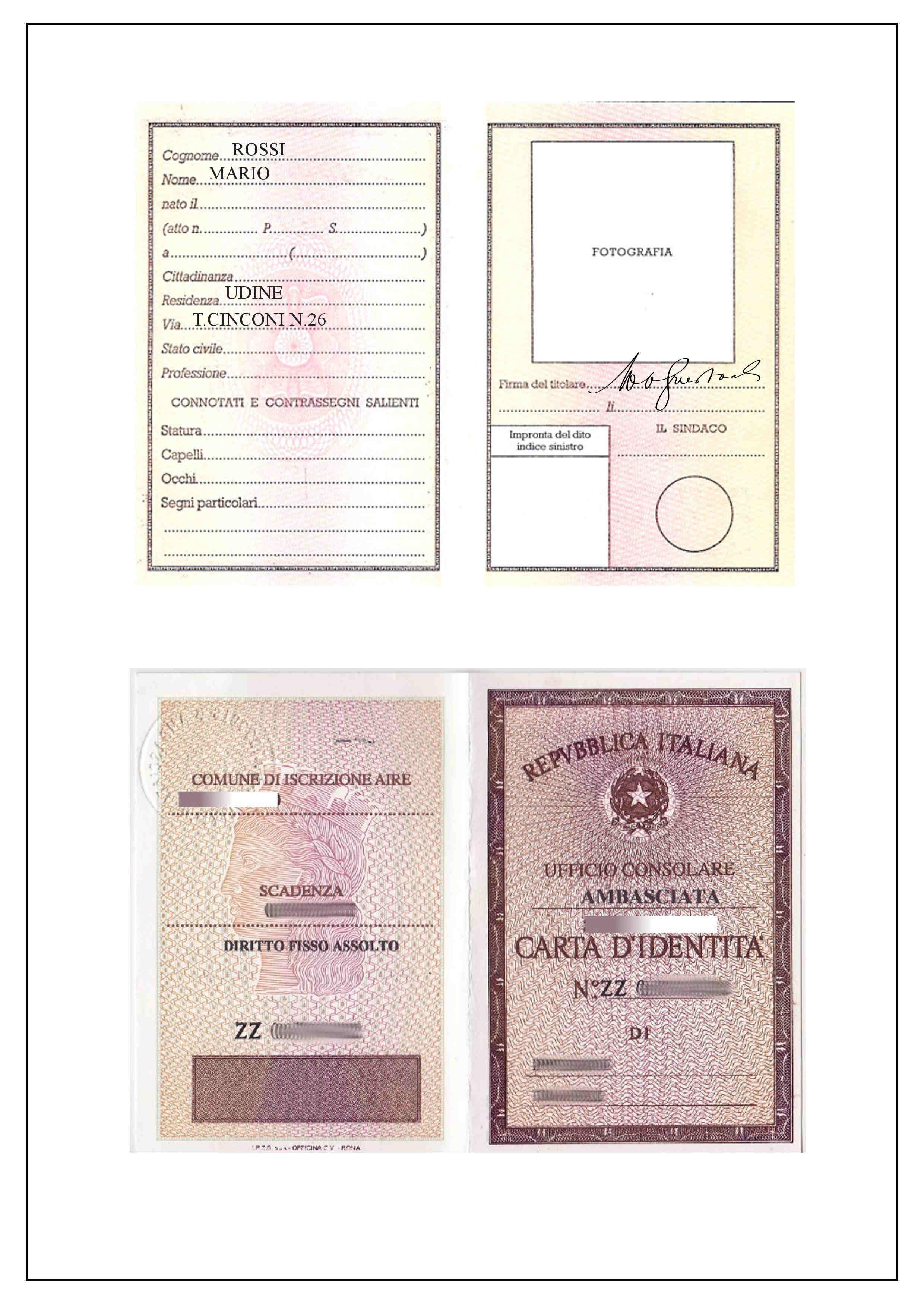 Documento d'identità per 61577