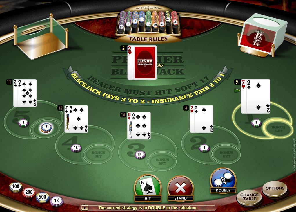 Microgaming European Blackjack blocca