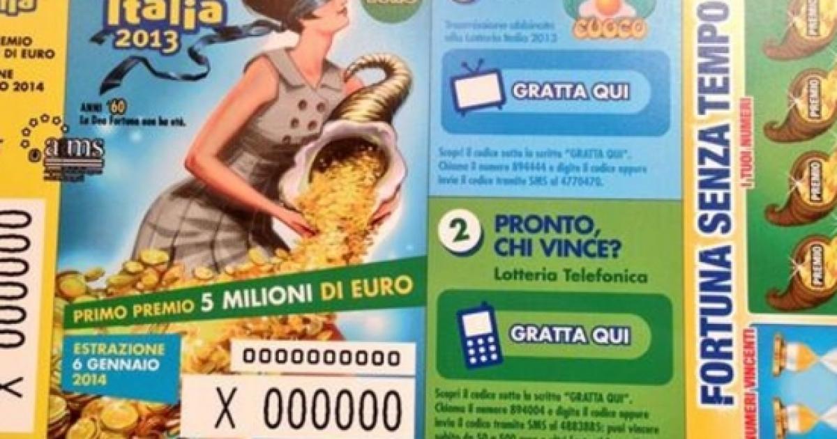 Lotteria Italia numeri vincenti cominciare